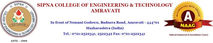 Sipna College of Engineering & Technology Amravati